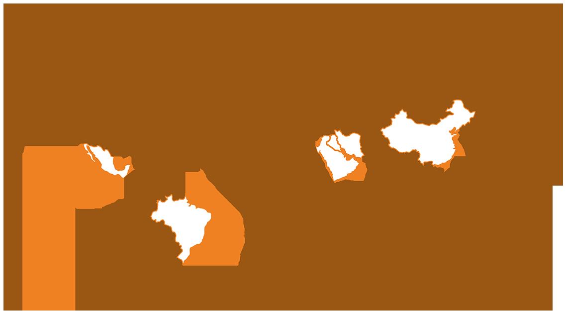 Atuação no Mundo